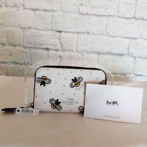 Coach Bags - Coach Bumble Bee + Stars Zip Coin Case Mini Wallet